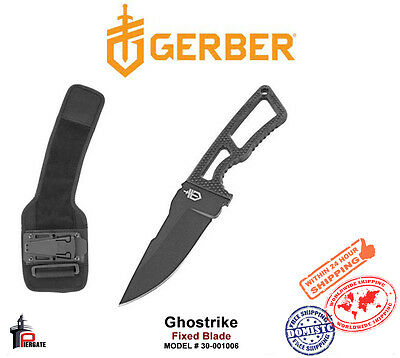 Gerber Ghostrike Knife Blade Fixed Blade Deluxe Kit with Ankle Wrap 30-001006