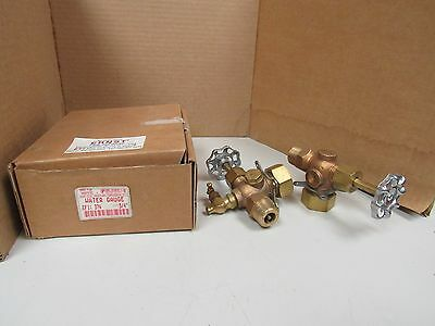"Lot Of 2 Ernst 3/4"" Brass Bronze Water Gauge Sight Site Gauge Valve 300Wsp 37A"
