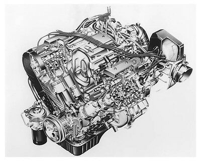 1988 Rover 800 V6 Engine Automobile Factory Photo ch8809