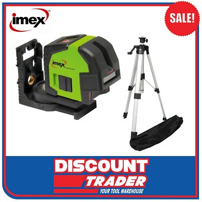 Imex Cross Line - Multi Line Laser Level with Plumb Dot Set with Tripod - LX22S
