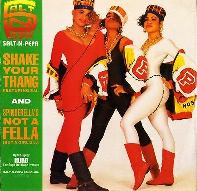 "SALT N PEPA shake your thang FFRX uk london 1988 12"" PS EX/EX"
