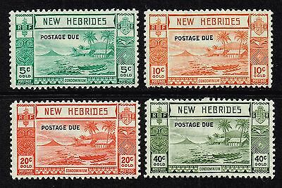 New Hebrides (English) 1938 postage due set to 40c., MH (SG#D6/D9)