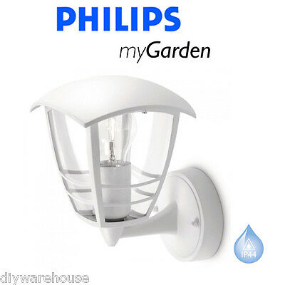 Philips My Garden Creek Wall Up White Outside Lantern Light Quality Die Cast New