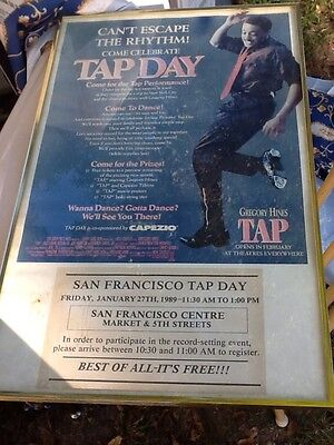 Alice Fayes Gregory Hines Tap Autographed Original Broadway Poster Move