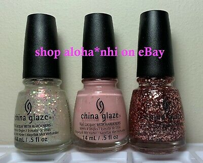 China Glaze PINK OF ME Collection 3 Colors Nail Polish 1269-1270-1271 NEW