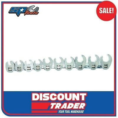 "SP Tools Flare Crowfoot Nut Wrench Rail 3/8"" Dr Metric 10 Piece Set - SP20574"