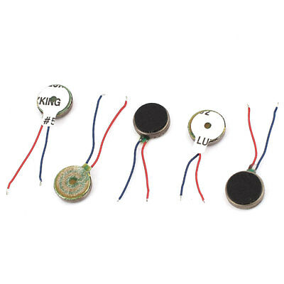 5Pcs DC 1.5V-3V 10mm x 2.7mm Brushless Micro Vibration Motor for Cellphone