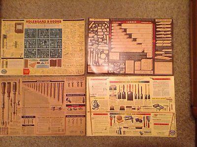 LOT OF 4 VINTAGE CHEVROLET ADVERTISING POSTERS 1950'S