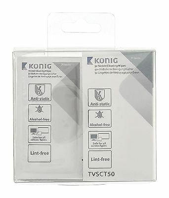 Konig LCD/TV/Tablet Screen cleaning wipes 50 pcs
