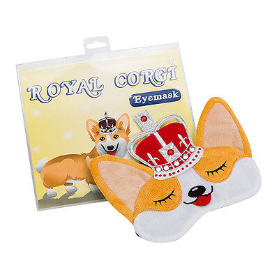 Corgi Queen - Royal Dog Plush Sleep Eye Mask