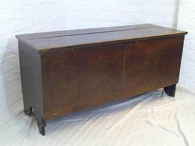 A Good Sized Antique Country Oak Coffer Blanket Chest
