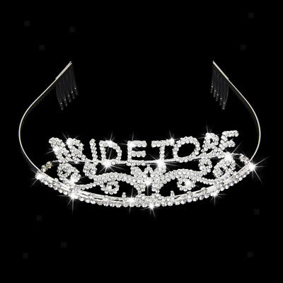 Bachelorette Sparkle Tiara Hen Party Crown Bride to Be Bridal Shower Supply