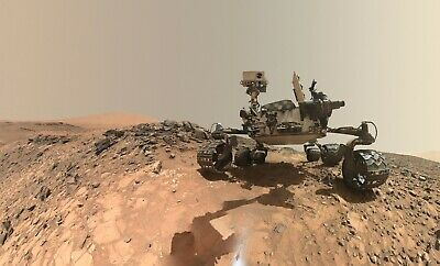 Large NASA Mars Photo-Curiosity Mars Rover Takes a Selfie - SUPER PHOTO