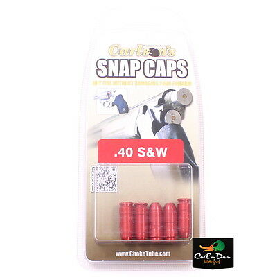Carlson's .40 S&w Aluminum Spring Loaded Snap Caps 5 Pack