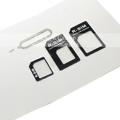 New Nano SIM to Micro Standard Converter Adapter Card for iphone  5S 6S 6PLUS 6