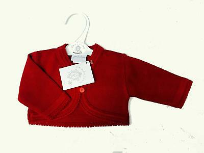 Baby Christmas Red Knitted Bolero/Cardigan Flowergirl Party Newborn-18 Months