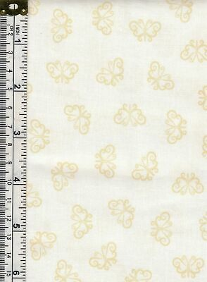 Cotton Fabric Tone On To White on Cream Mint Leaves 112cm wide Per 1//2 Metre