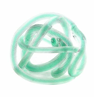 "New 6"" Hand Blown Art Glass Knot Sculpture Figurine Statue Light Green"