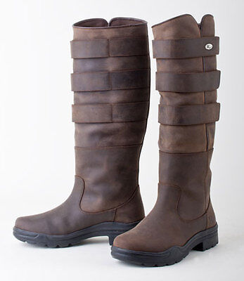 Rhinegold Elite Colorado Leather Country Boot- Fully Adjustable Leg Width