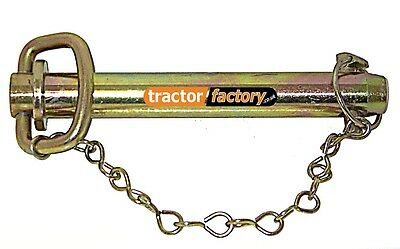 """TOWING PIN 1"""" 1/4 x 6 INCH WITH LINCH PIN & CHAIN - TRACTOR/LORRY/TRUCK/VAN"""