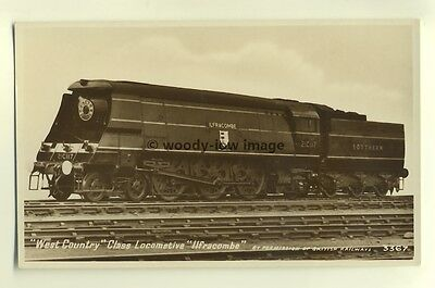 ry444 - Southern Railway Engine no 21C117 Ilfracombe - postcard