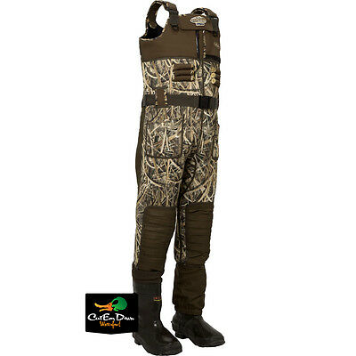 Drake Waterfowl Lst Eqwader 2.0 Chest Waders Insulated Boots Blades Camo Size 11
