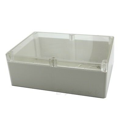 Waterproof Clear Electronic Project Box Enclosure Plastic Case 265x185x95mm
