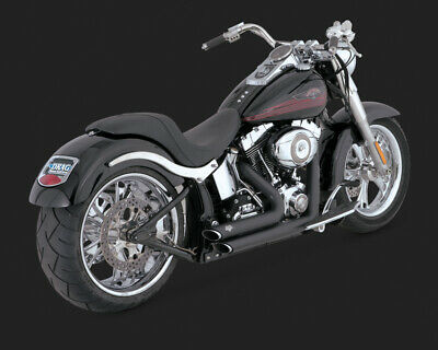 Vance & Hines SHORT SHOTS STAGGERED BLK SOFTAIL 86-11 (86-06 MODELS NEED V16925