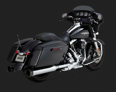 Vance & Hines OVERSIZE 450 SLIP-ONS /BLACK TIP 95-15 TOURING