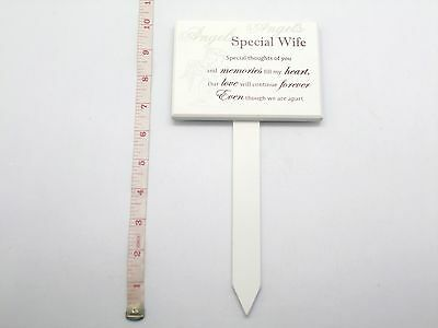 Memorial For Special Wife Wooden Grave Stick Stake Ornament Funeral Tribute