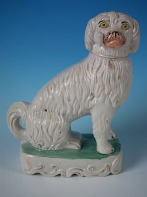 Staffordshire pottery Spaniel Smoking a pipe