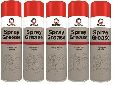 5x Comma 500ml Spray Grease  SG500M x5