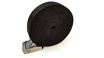 5 Buckled Straps 25mm Cam Buckle 5 meters Long Heavy Duty Load Securing 250kg