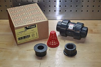 Cepex Cpx27362 Ball Check  Valve 1 Inch Pvc Socket Thread Epdm