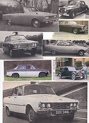 50 LOT Vintage ROVER Cars of Britain, Interesting & Historical Magazine Clips
