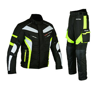 ProFirst Mens Motorbike Motorcycle Full Suit Jacket & Trouser CE Armoured Riders