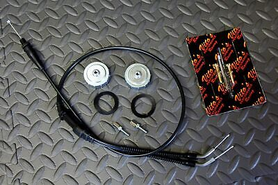 Vito's TORS REMOVAL ELIMINATOR KIT Banshee throttle cable & caps & idle screws