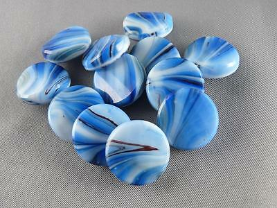 "Vintage Gorgeous Glass Buttons - ( 12 pcs ) - 18mm - 3/4"" - A506"