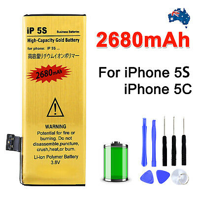 OZ Cell 2680mAh Internal with Tools for Apple iPhone 5S 5C Replacement Battery