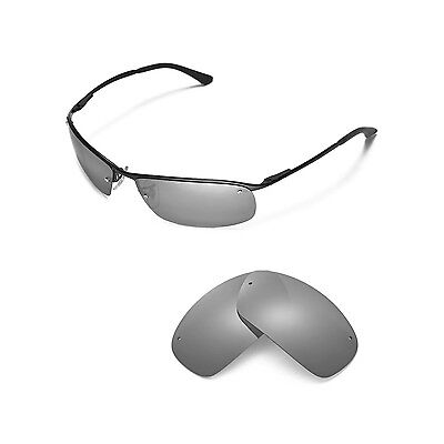 New Walleva Polarized Titanium Replacement For Ray-Ban RB3183 63mm