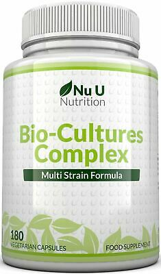 Probiotics 180 Capsules 10 Billion Forming CFU's yeast infections Nu U Nutrition