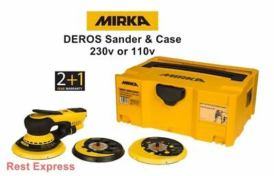 Mirka DEROS Electric Random Orbit Palm Sander & Case 230v or 110v 5650CV 5650XCV