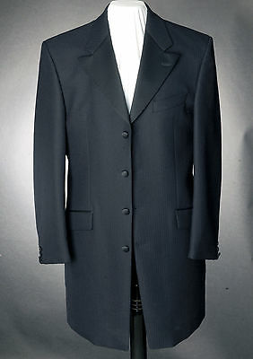 Mj-121.Mens Navy Blue Herringbone Prince Edward Jacket,Wedding, Dress, Suit