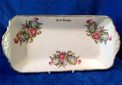 Royal Tudor Ware by. Barker Brothers. Sandwich Tray Dunoon Thistle.