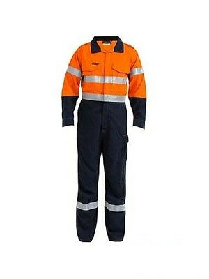 Bisley Tencate Tecasafe+ Taped 2 Tone Hi Vis Engineered Vented Coverall-Bc8086T