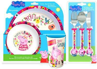 Peppa Pig 'Back To Nature' 6-Piece Dinner and Cutlery Set | Tableware | Mealtime