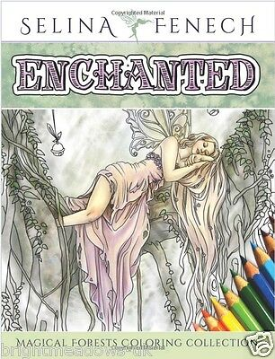 Fairy Tale Magical Mystical Art Adult Colouring Book Fairies Selina Relaxing
