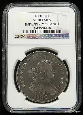 1800 Bust Silver Dollar NGC Certified VF DETAILS