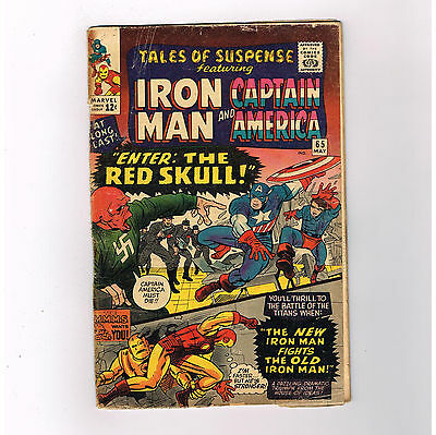 TALES OF SUSPENSE #65 First Silver Age RED SKULL appearance!!