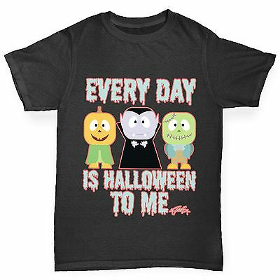 Twisted Envy Girl's Everyday Is Halloween Printed Cotton T-Shirt